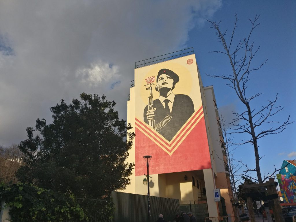 Street Art in Lisbon from Shepard Fairey
