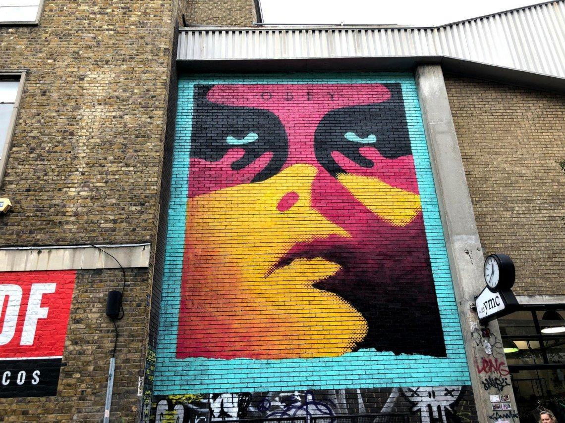 Obey street art from Shepard Fairey on Hanbury Street in London