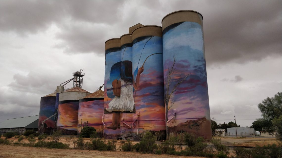 Silo Art by Drapl and the Zookeeper in Sea Lake