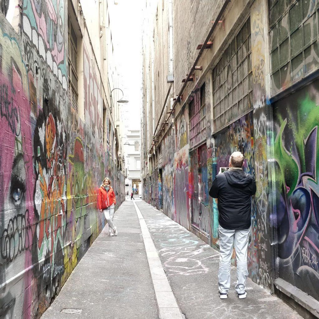 Graffiti on Union Lane in Melbourne