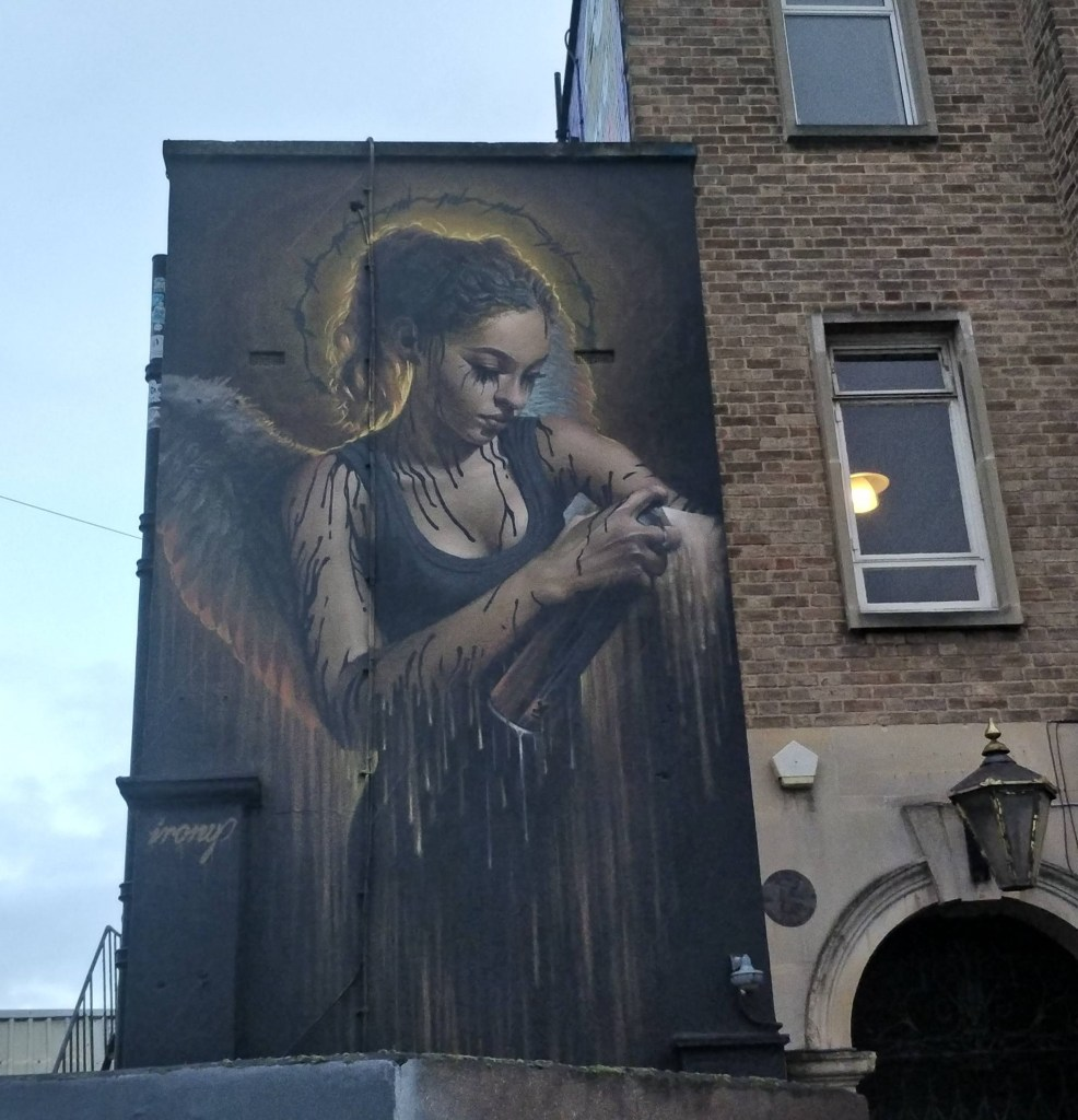 Mural by Irony on the Hen & Chicken on North Street. Part of the Upfest Summer Editions
