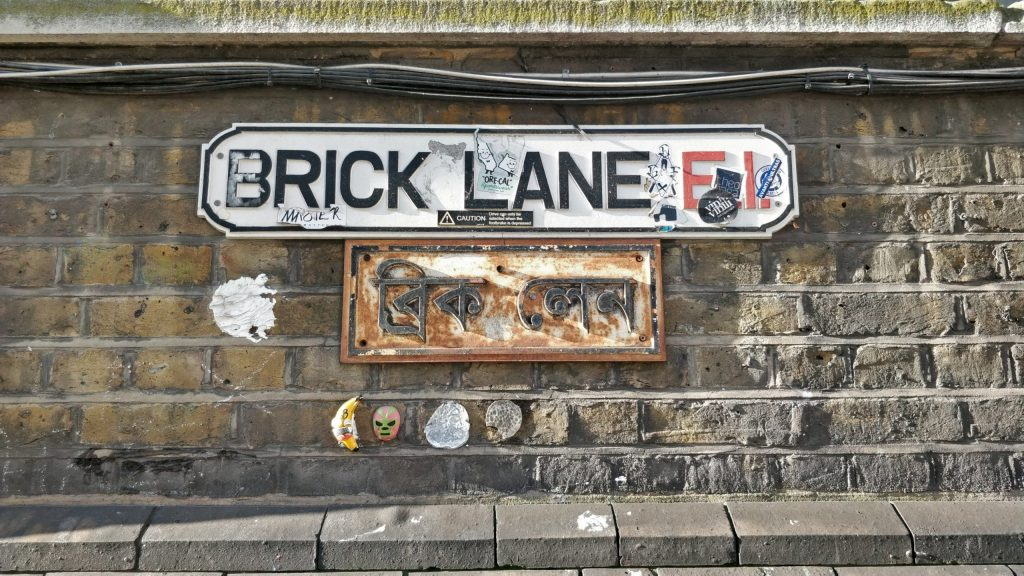 Sign for Brick Lane