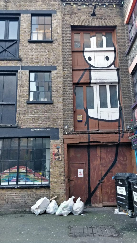 Street art by Stik on Rivington Street in Shoreditch