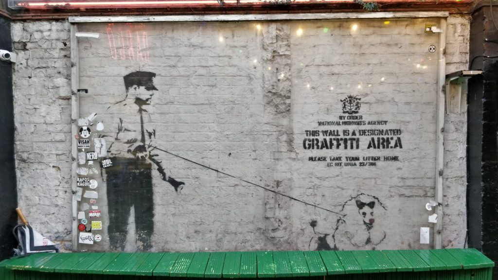 Original Banksy street art in Shoreditch