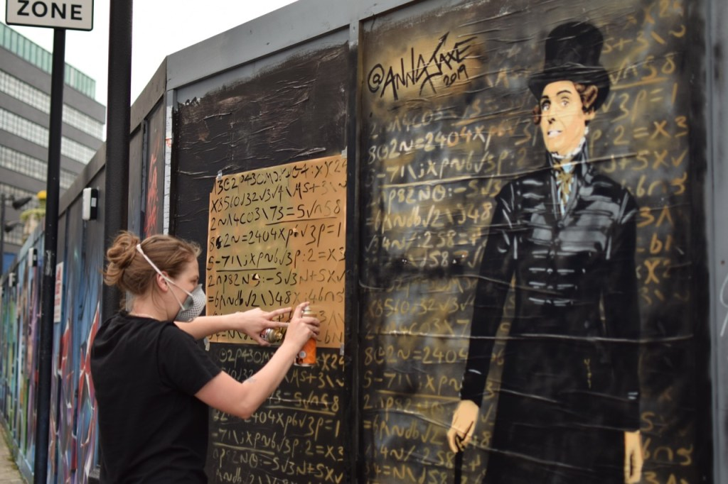 Anna Jaxe created her mural of Anne Lister in London