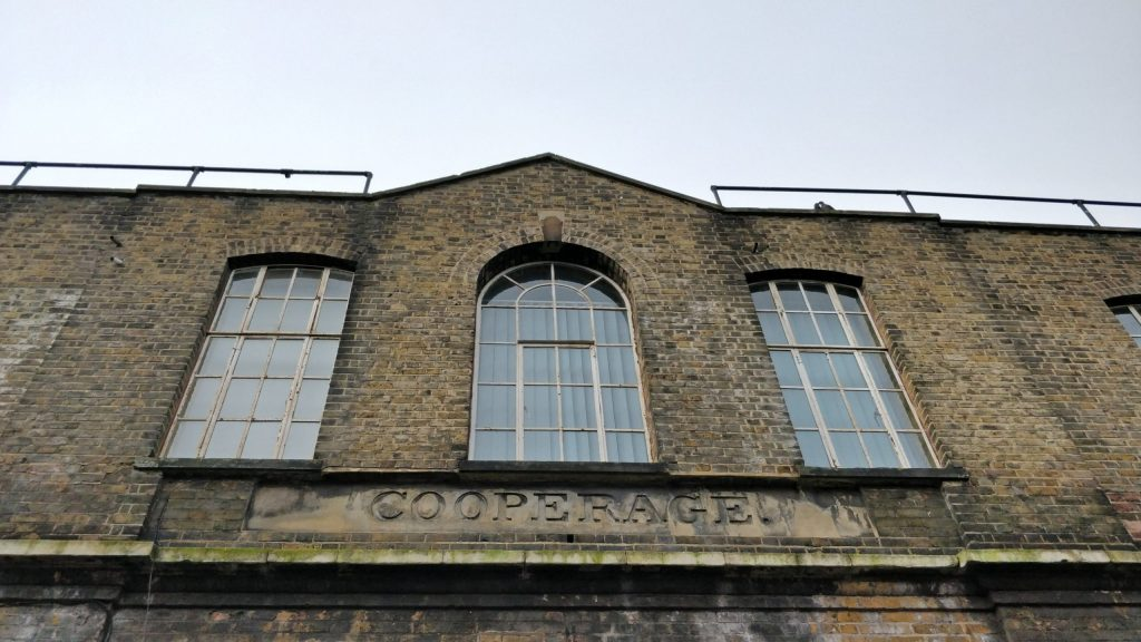 Old Sign of the Cooperage at the Truman Brewery