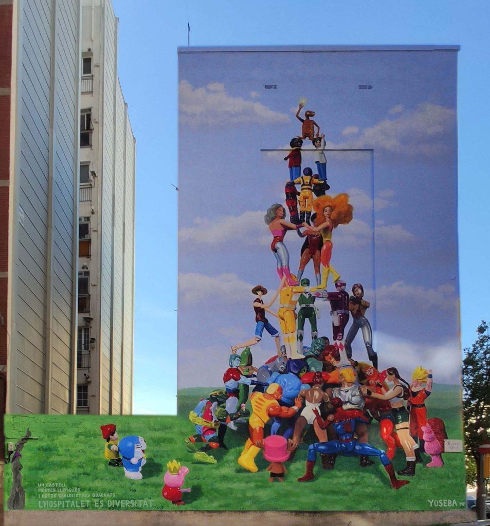 Mural by Yoseba MP in Barcelona.
