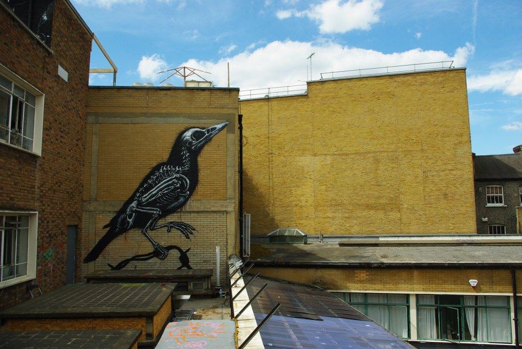 A Blackbird by Belgian artist ROA in London. Blackbirds were number 5 in the 2020 Big Garden Birdwatch