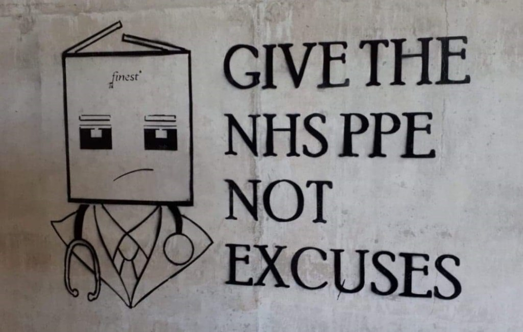 Give the NHS PPE not excuses by John D'oh
