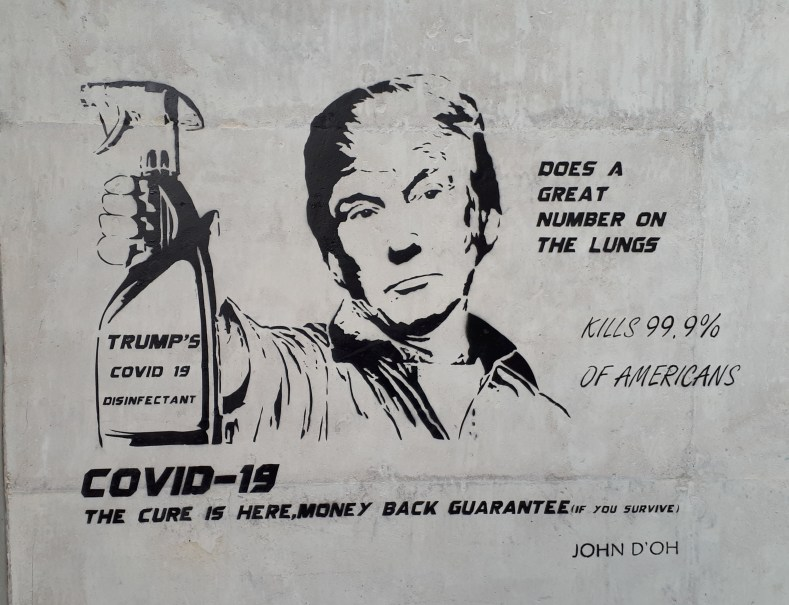 Trumps Covid-19 does a great number ofn the lungs by John D'oh