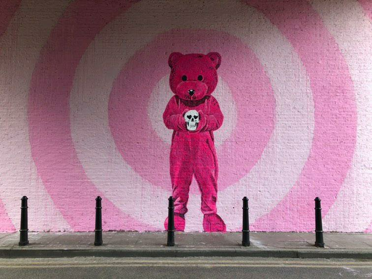 The Pink Bear by LUAP in Shoreditch