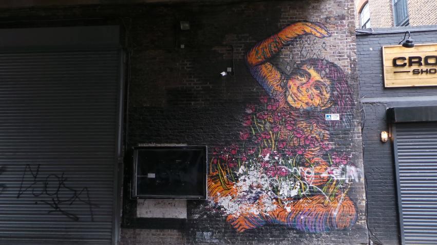 Bastardilla street art on Rivington Street