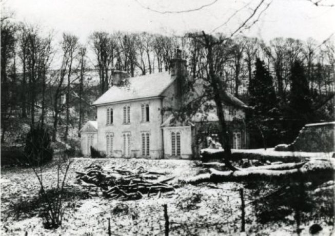 An old picture of the now demolished Asheham House