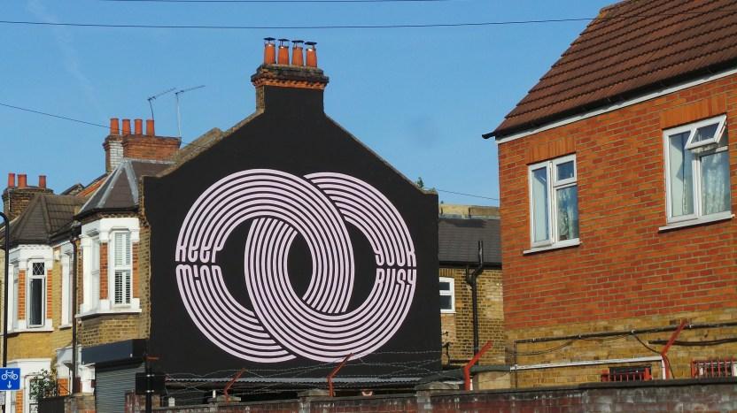 Gary Stranger mural in Leyton part of the London Mural Festival