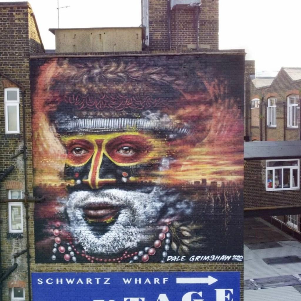Mural by Artist Dale Grimshaw in Hackney Wick
