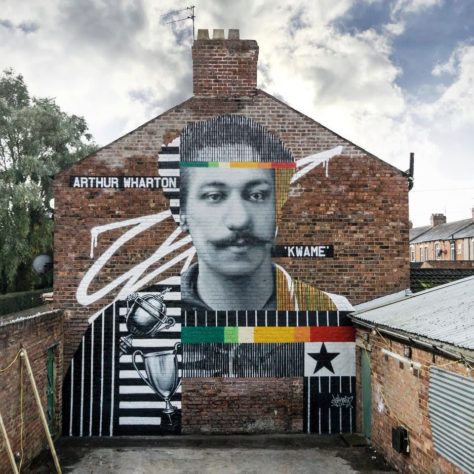 Mural of Arthur Wharton in Darlington
