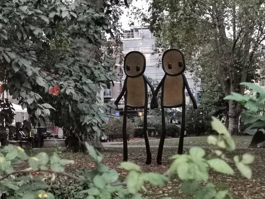 Sculpture by Stik on Hoxton Square