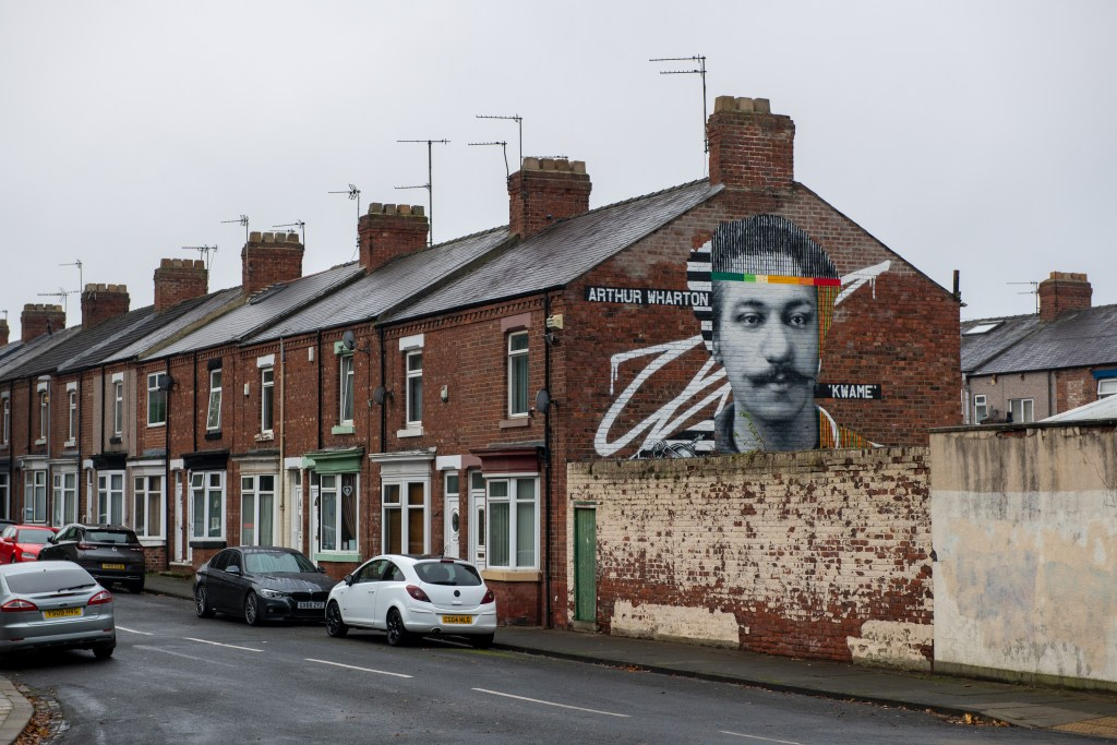 Arthur Wharton mural in Darlington