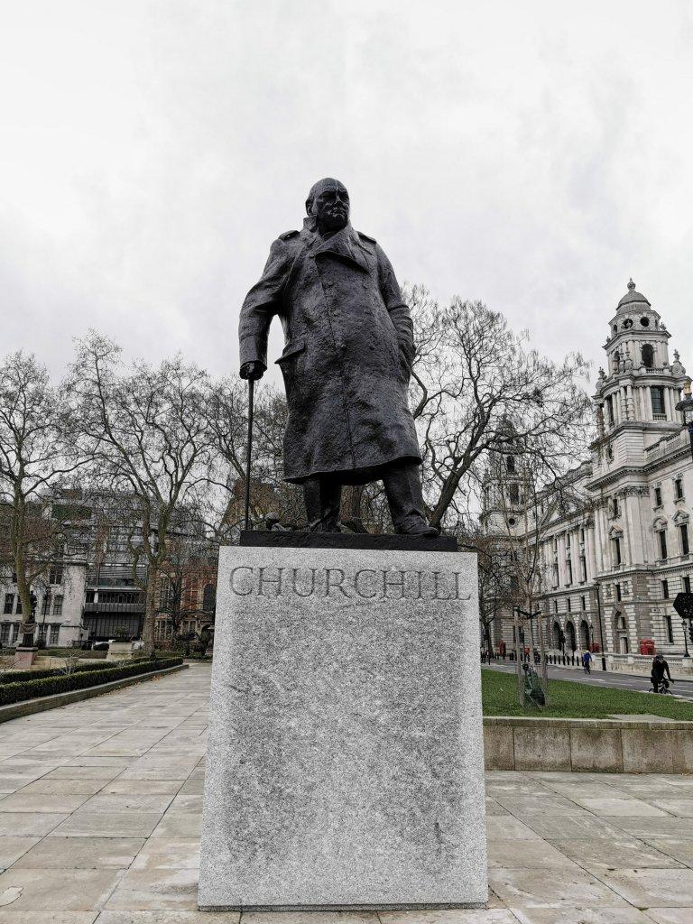 Statue of Winston Churchill on parliament square