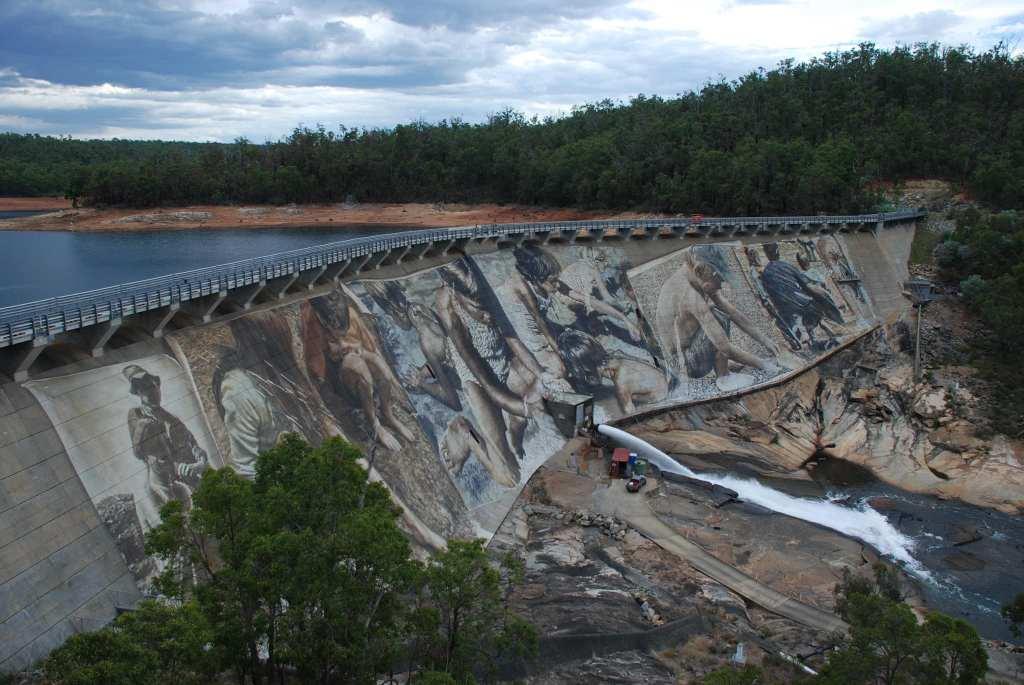 The Wellington Dam mural near Collie in Western Australia