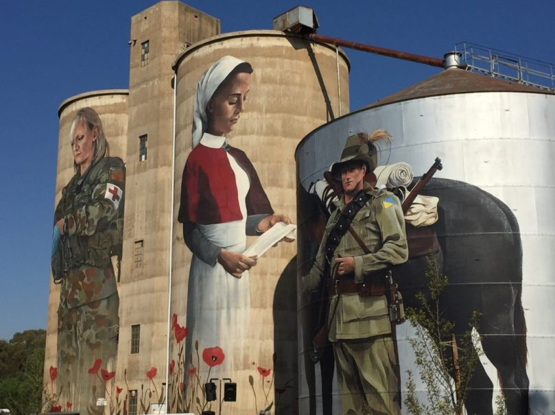 The Devenish silo art painted by Cam Scale part of the North East Victoria Silo Art Trail