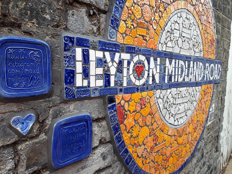 Leyton midland road mosaic roundel