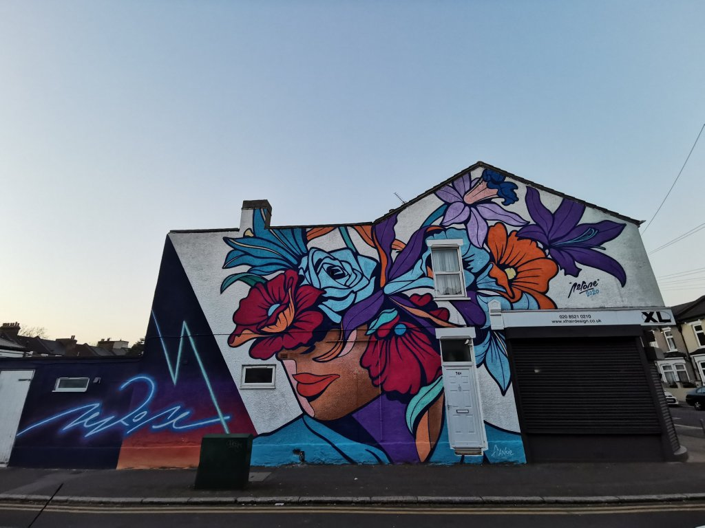 Street art mural by Nerone in Walthamstow