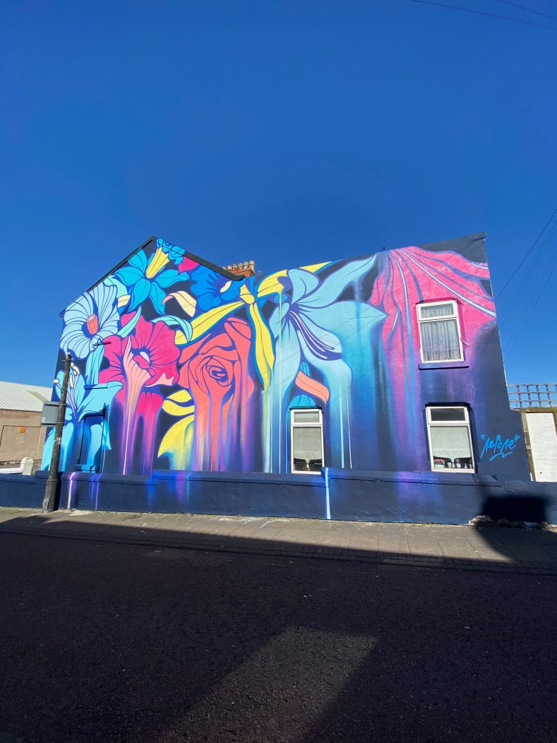 Completed mural in New Brighton by Nerone