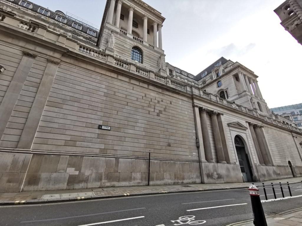 The Walbrook river runs underneath the bank of england