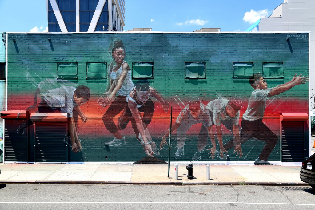 New Futures mural by Li Hill in Williamsburg