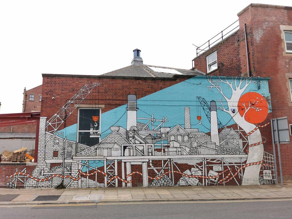 Jo Peel mural in Rotherham on Market Street