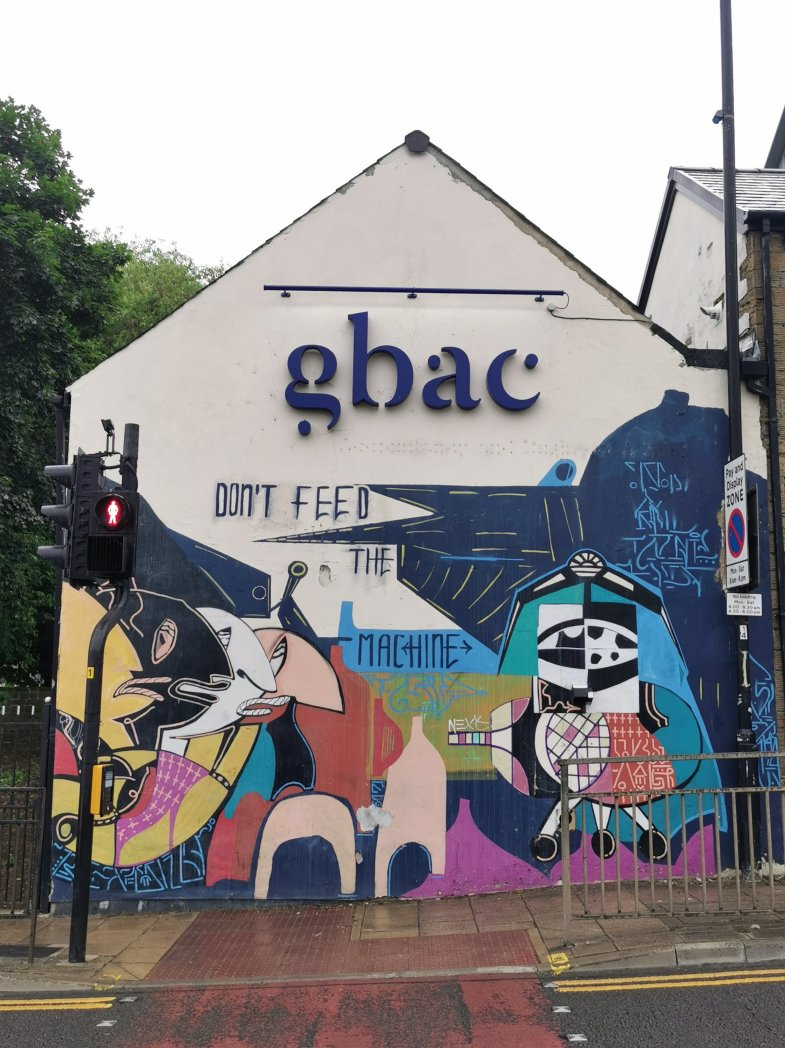 A mural on the side of Gbac in Barnsley