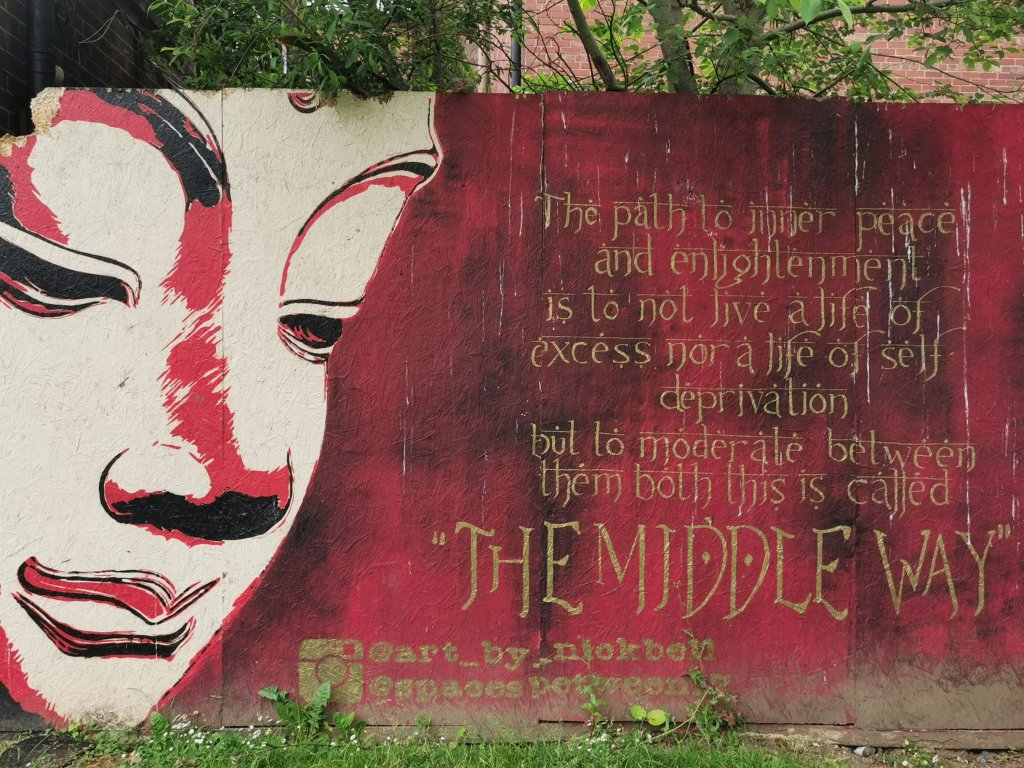 Picture of Peace mural by Neil Bell in Mandela Gardens in Barnsley. A part of the south yorkshire street art scene