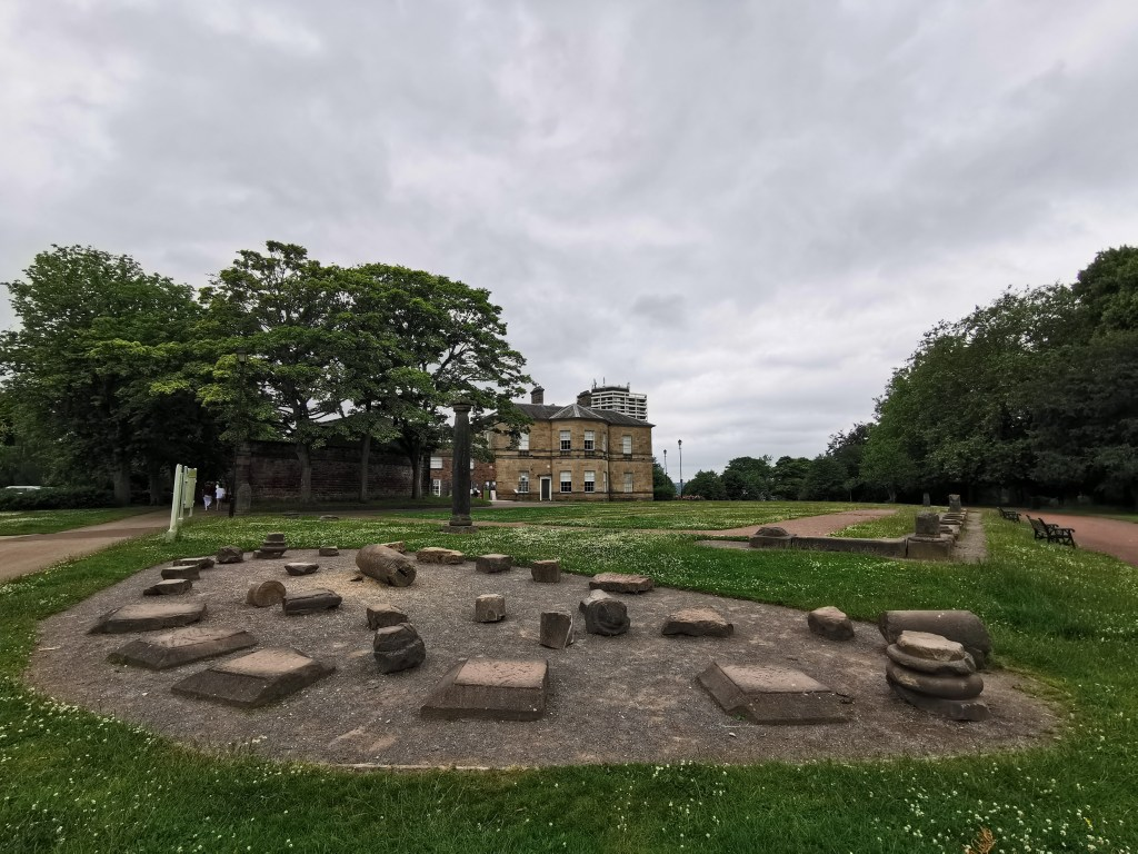 Roman Ruins outside of the Clifton Park Museum and Rotherham