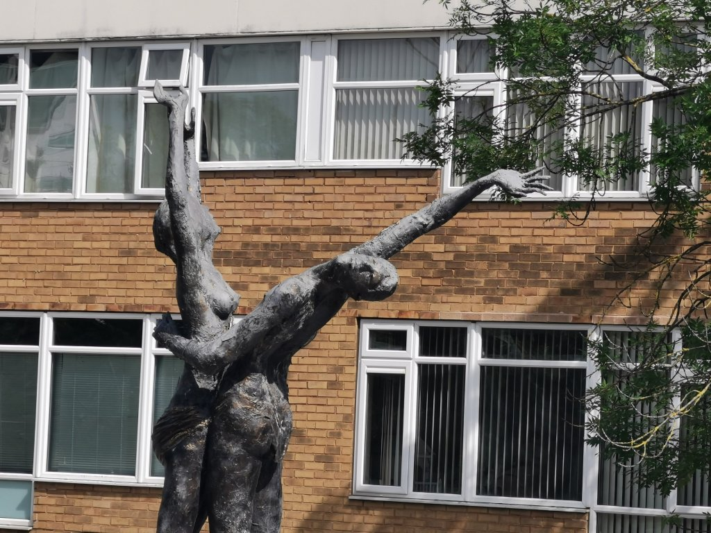 The Lovers culpture in Doncaster can be seen on our day out in South Yorkshire