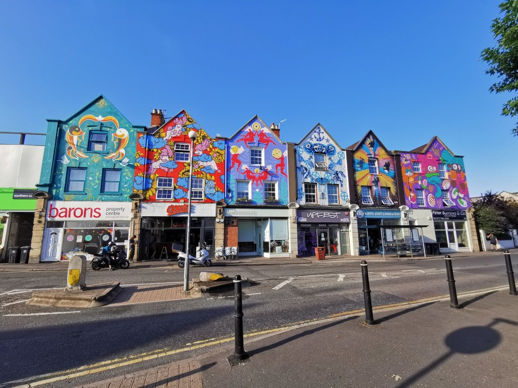 The six sisters on North Street in Bristol