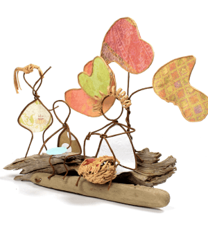 Image of Back-to-School Picnic sculpture by Patti Jones