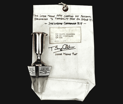 image of the personal kit for Buzz Aldrin.