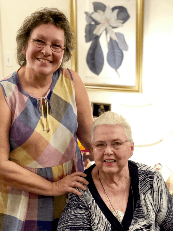 Photo of Patti Jones and our good friend, Emmaline.