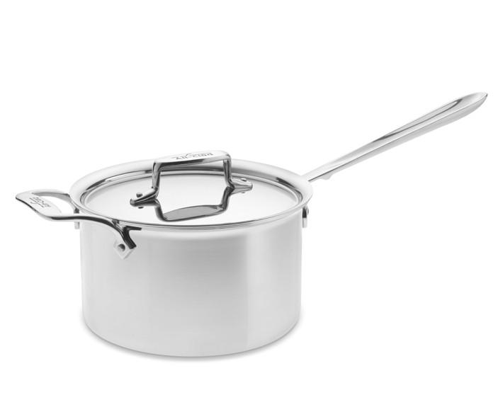 Inspiring Kitchen All Clad 4 qt sauce with helper handle cookware