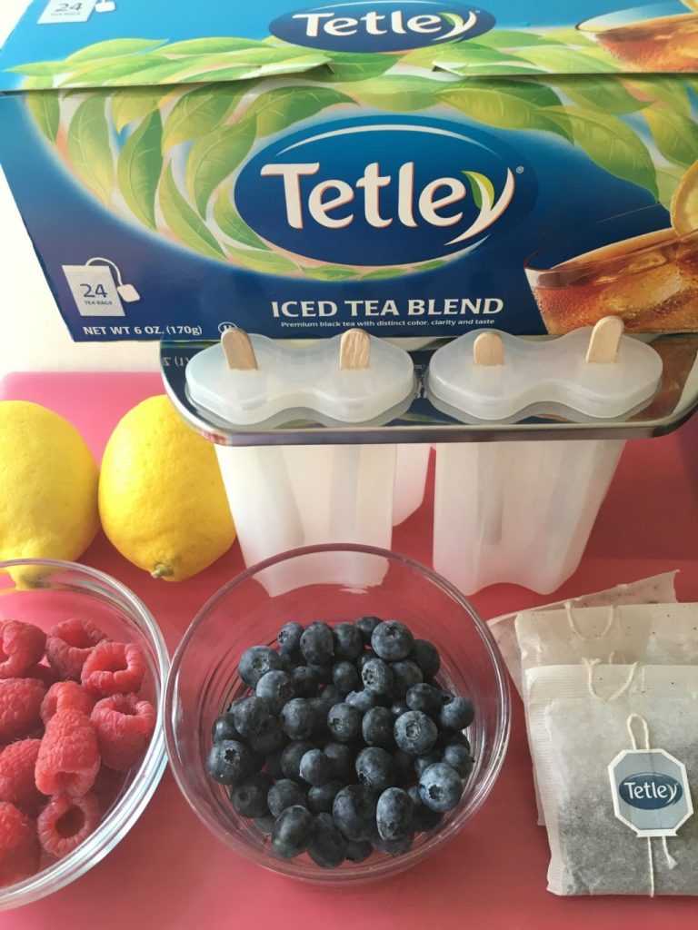 TetleyVery Berry Ice Tea Popsicles
