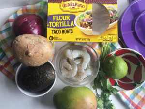 Chile Lime Grilled Shrimp Tacos with Mango and Jicama