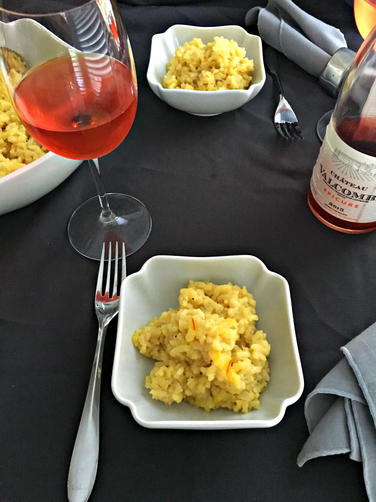 Rumi Spice Saffron Risotto table setting rose