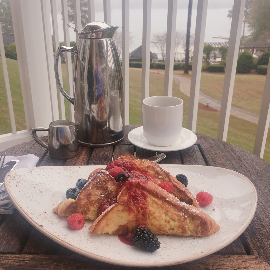 Ritz Carlton Reynolds Lake Oconee balcony breakfast