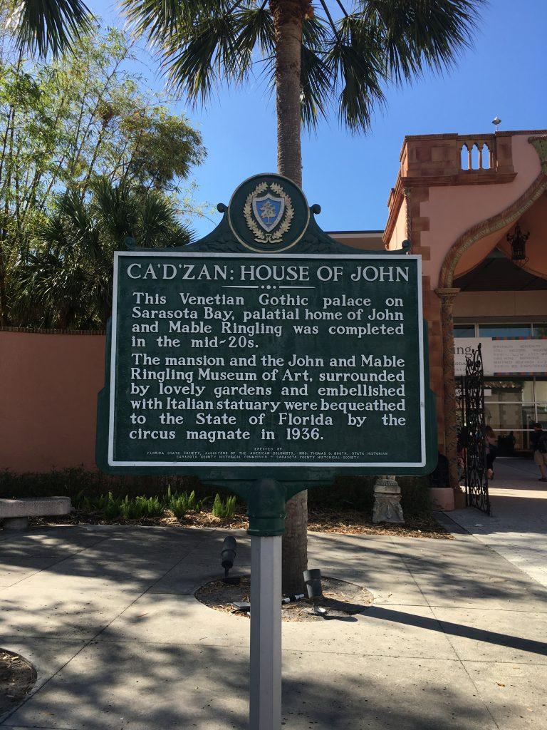 vacation Florida Gulf Coast The Ringling CA'D Zan