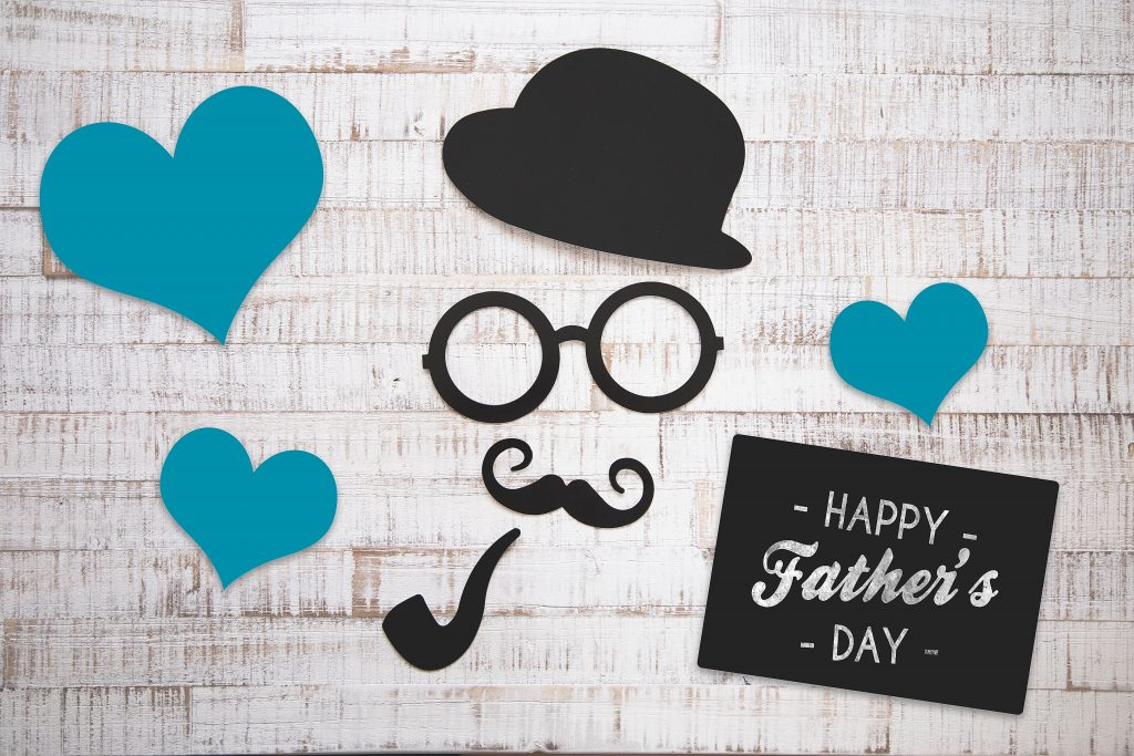 happy father's day image with hat and pipe