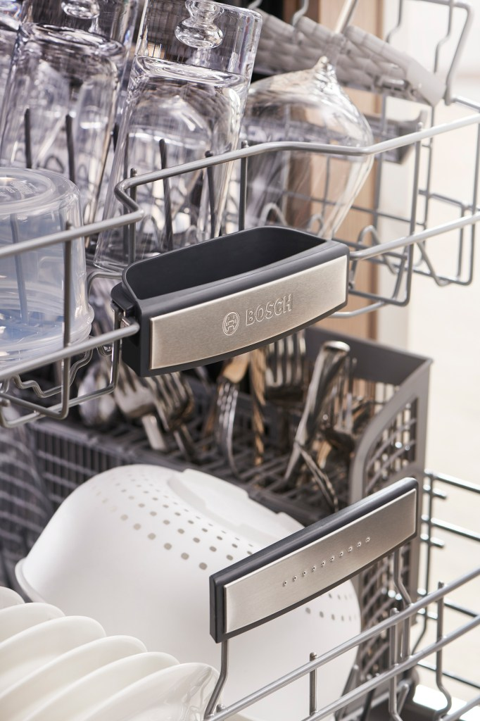 open Bosch dishwasher
