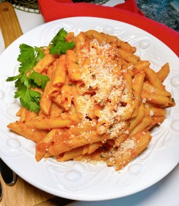 Penne alla Vodka dish Greatest Tomatoes from Europe