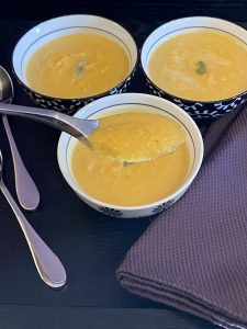 spoonful of butternut squash soup
