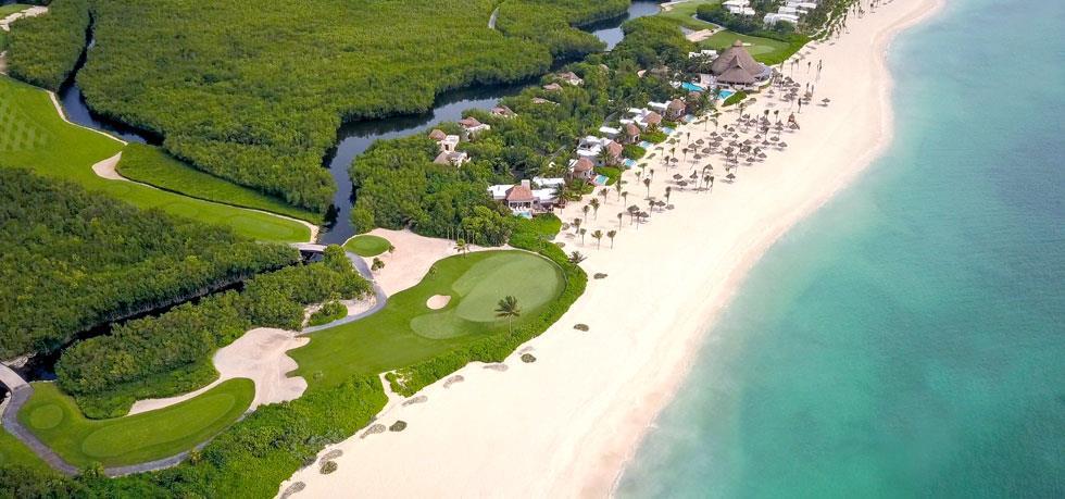 fairmont mayakoba resort aerial